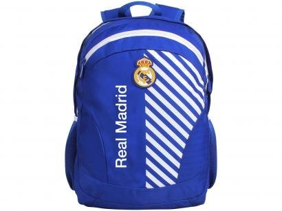 Mochila Juvenil Escolar Masculina Futebol Tam. G - DMW Sports Real Madrid FC...