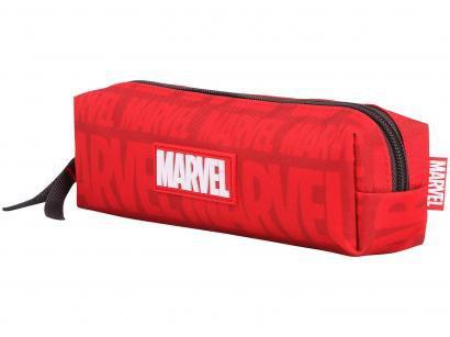 Estojo Escolar Vermelho com Zíper Marvel Sports - DMW