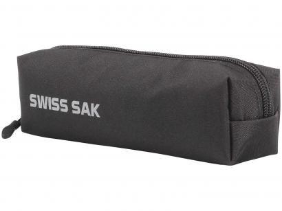 Estojo Escolar Preto com Zíper Sport Swiss Sak - DMW