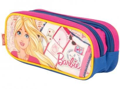 Estojo Escolar Duplo Barbie com Zíper - 19M Sestini