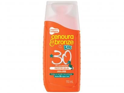 Protetor Solar/Filtro Solar Corporal e Facial - FPS 30 Cenoura & Bronze...