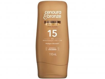 Protetor Solar Corporal Cenoura & Bronze FPS 15 - Efeito Dourado 110ml