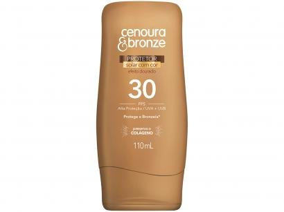 Protetor Solar Corporal Cenoura & Bronze FPS 30 - Efeito Dourado 110ml