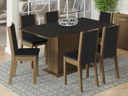 Mesa de Jantar com 6 Cadeiras Retangular Madesa - Roma
