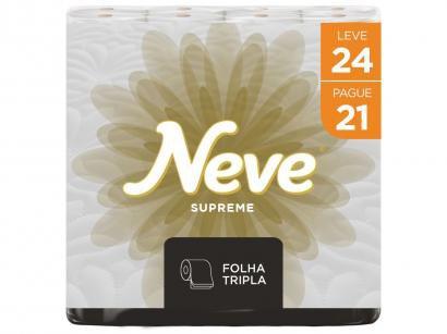 Papel Higiênico Folha Tripla Neve Supreme 24 Rolos - 20m