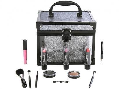 Maleta de Maquiagem Clear Fenzza - 12 Peças