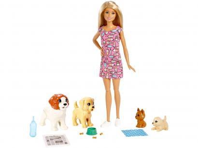 Boneca Barbie Treinadora de Cachorrinhos - com Acessórios Mattel FXH08