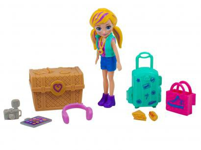 Boneca Polly Pocket Kit de Viagem - com Acessórios Mattel