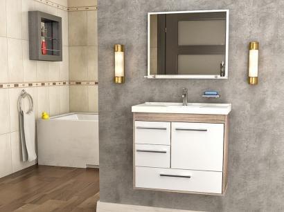 Gabinete para Banheiro Espelho 1 Porta - 3 Gavetas Cerocha Procion