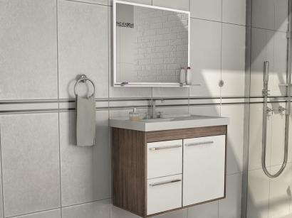 Gabinete para Banheiro com Espelho 1 Porta - 2 Gavetas Cerocha Procion