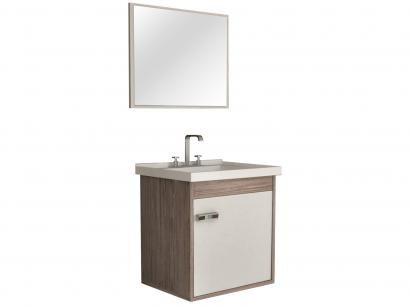 Gabinete para Banheiro com Espelho 1 Porta - Cerocha Capella