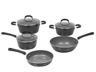 Jogo de Panelas Brinox de Alumínio Carbono - 5 Peças Ceramic Life Select...
