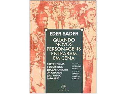 Livro Quando Novos Personagens Entraram em Cena - Eder Sader