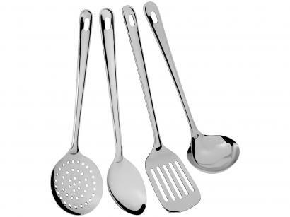 Kit Utensílios de Cozinha Euro Home Inox - Gadgets 4 Peças