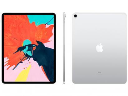 """iPad Pro Apple 1TB Prata 12,9"""" Retina - Proc. A12X Câm. 12MP + Frontal 7MP iOS..."""