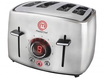 Torradeira MasterChef Inox Premium TO3004I - 04 Fatias Digital 09 Níveis de...