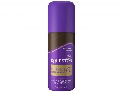 Spray Retoque de Raiz Koleston Castanho Escuro - 100ml