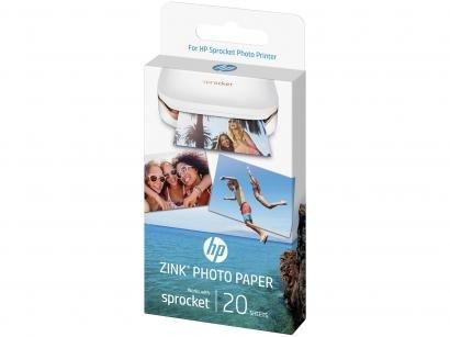 Papel Fotográfico 5x7,6cm HP Zink - Autocolante Para Sprocket 100 Colorido 20...