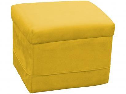 Puff Decorativo Retangular Amarelo Carinho - Matrix