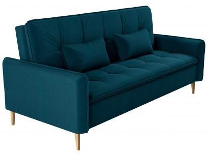 Sofá-cama Casal 3 Lugares Reclinável Veludo - Matrix Donna