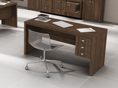 Mesa de Atendimento para Escritório 3 Gavetas - Tecno Mobili ME4113