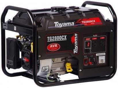 Gerador de Energia a Gasolina Toyama 4T - Partida Manual 2,5KVA TG2800CX