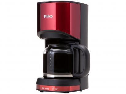 Cafeteira Elétrica Philco PCF41 Inox Red - Vermelha e Preta 30 Xícaras