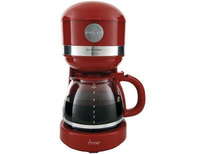 Cafeteira Elétrica Philco Retrô PCF38V - Vermelha e Prata 30 Xícaras