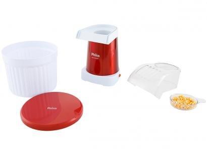 Pipoqueira Elétrica Philco Pop Gourmet PPI05VI - 100g de Pipoca Vermelha e...