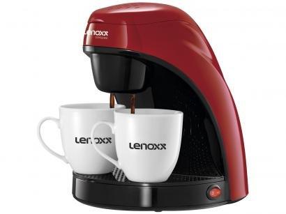 Cafeteira Elétrica Lenoxx PCA 031 Preta e Vermelha - 2 Xícaras