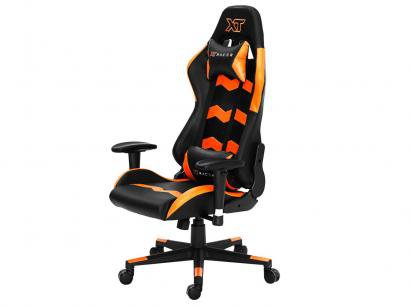 Cadeira Gamer XT Racer Reclinável Preta e Laranja - Speed Series XTS120