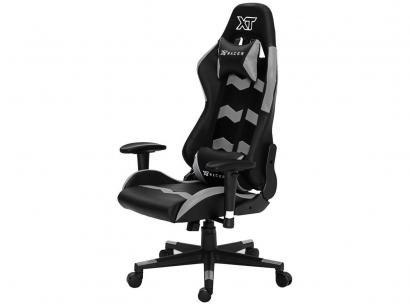 Cadeira Gamer XT Racer Reclinável Preta e Cinza - Speed Series XTS130