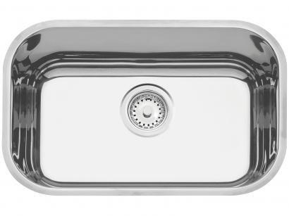 Cuba Simples de Embutir para Cozinha Tramontina - Inox Retangular 50x33,5cm Prime Lavínia
