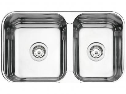 Cuba Dupla de Sobrepor para Cozinha Tramontina - Inox Retangular 66x40,7cm Perfecta Isis