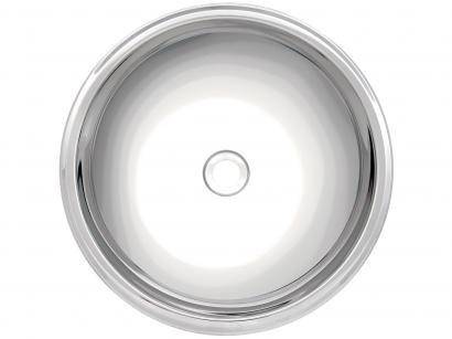 Cuba de Sobrepor para Banheiro Tramontina Inox - Redonda 30x10,8cm Perfecta 94103207