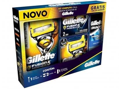 Kit Aparelho de Barbear Gillette Proshield - 3 Peças