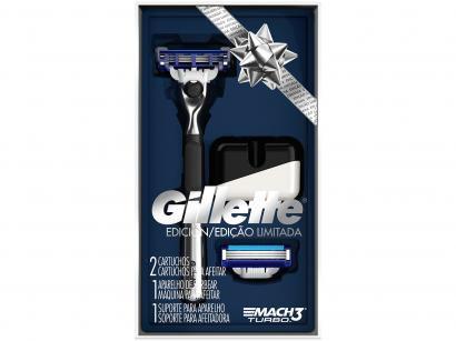 Aparelho de Barbear Gillette Mach3 - Turbo
