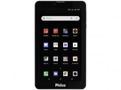 "Tablet Philco PTB7QSG 8GB 7"" 3G Wi-Fi Android 8.1 - Quad Core Câmera..."