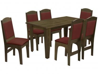 Mesa de Jantar 6 Cadeiras Retangular - Dobuê Movelaria Espanha