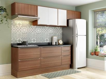 Cozinha Completa Multimóveis Calábria - com Balcão 8 Portas 4 Gavetas