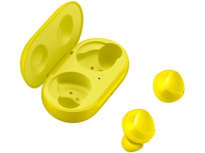 Fone de Ouvido Bluetooth Samsung Buds Galaxy - Intra-auricular com Microfone Amarelo