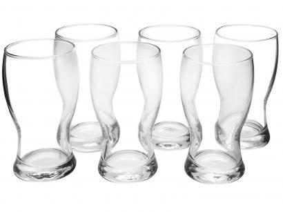 Jogo de Copos de Vidro para Cerveja 220ml - 6 Peças Nadir Frevo