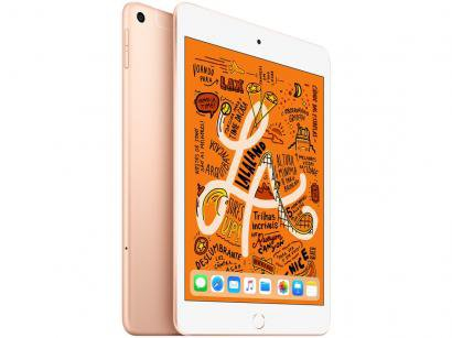"iPad Mini Apple 4G 256GB Dourado 7,9"" Retina - Proc. Chip A12 Câm. 8MP +..."