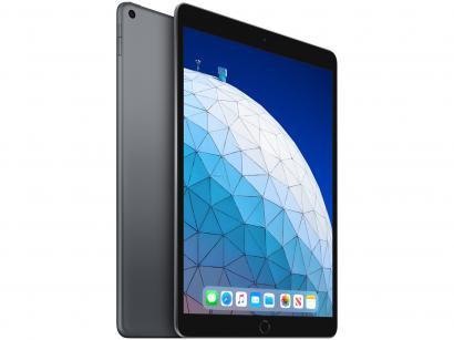 "iPad Air Apple 64GB Cinza Espacial 10,5"" Retina - Proc. Chip A12 Câm. 8MP +..."