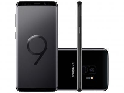 "Smartphone Samsung Galaxy S9 128GB Preto 4G - 4GB RAM Tela 5,8"" Câm. 12MP +..."