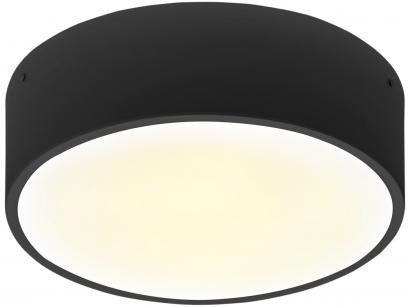 Plafon LED Redondo Preto Fosco 25W 4 Lâmpadas - Taschibra Ring