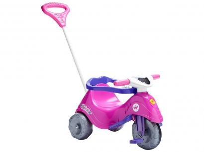 Triciclo Infantil Calesita com Empurrador - Passeio e Pedal Lelicita