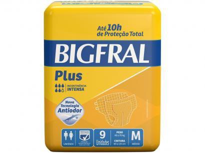 Fralda Geriátrica Bigfral Plus M - 9 Unidades