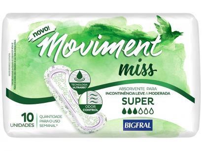Absorvente para Incontinência Moviment Miss Super - 10 Unidades