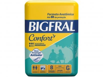 Fralda Geriátrica Bigfral Confort - Tamanho G 8 Unidades